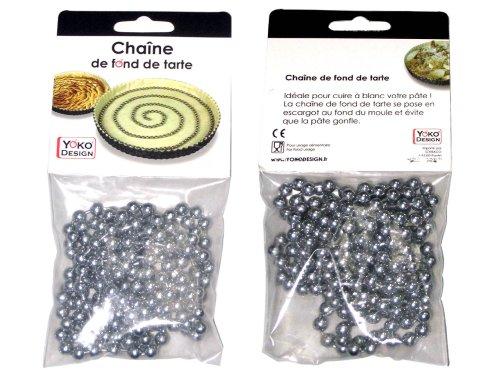 YOKO DESIGN 1032A Chaine Fond de Tarte, Chromé, Métal, 2 millimètres de diamètre