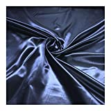Stoff Polyester Satin dunkelblau leicht blickdicht