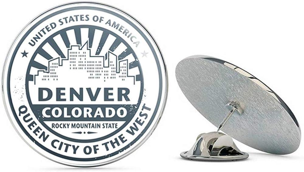 Denver Colorado USA Round Metal 0.75
