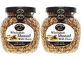 Lakeshore Wholegrain Mustard with Honey, 2 jar pack, 7.2oz/205g each