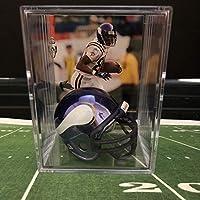 Chrome Edition Minnesota Vikings Helmet Shadowbox w/Randy Moss card