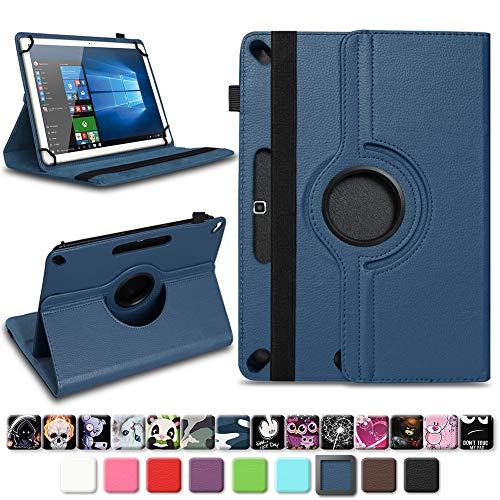 NAmobile Tablet Tasche für Wortmann Terra PAD 1005 Hülle hochwertiges Kunstleder mit Standfunktion 360° Drehbar Universal 10.1 Zoll Cover, Farben:Blau