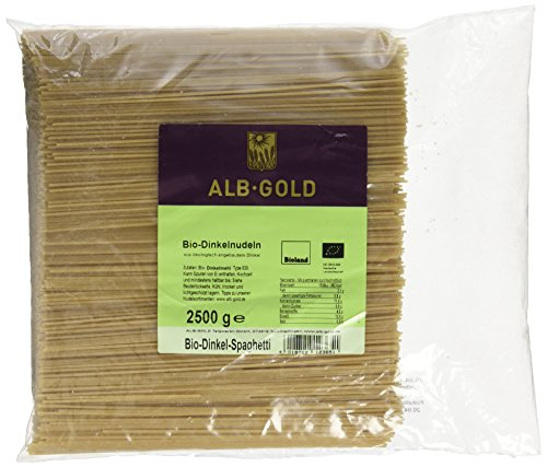 Alb-Gold Dinkel-Spaghetti, 1er Pack (1 x 2.5 kg Packung) - Bio