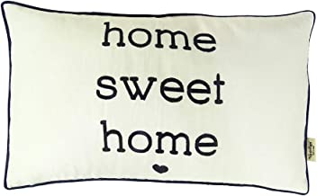 Vargottam EmbroideredHome Sweet HomeLumbar Decorative Throw Pillow Cover Lumbar Pillow Cover Farmhouse 12x20 Inches