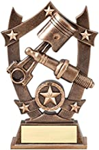 Decade Awards Spark Plug 3D Gold Sport Stars Trophy - Star Mechanic Award - 6.25 Inch Tall - Customize Now