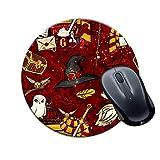 Calidad Alfombrilla Redonda para Juegos Círculo Harry Potter Textura roja Impreso Multicolor