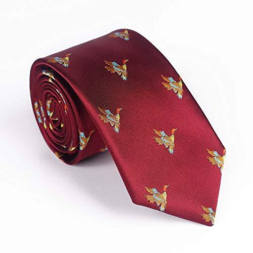 PGDD Garen-geverfde jacquard vogel bloem veelkleurige stropdas, casual party formele stropdas voor mannen