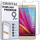 REY Protector de Pantalla para Huawei Honor 6X, Cristal Vidrio Templado Premium