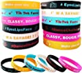 36 Pack TIK Music Themed Silicone Bracelet Dance Challenge Party Wristbands Music Party Supplies Stuff for Girls and Boys, Music Famous for Fans by Masgo