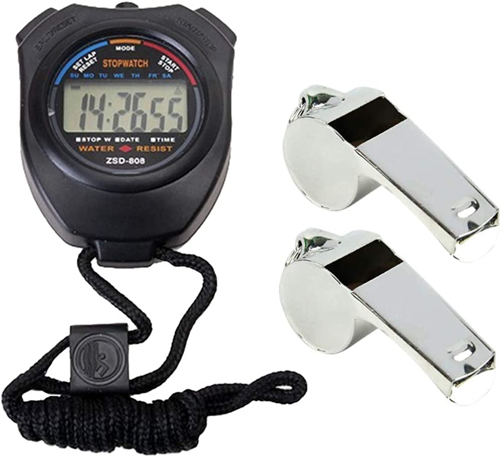 LIOOBO Sports Stopwatch Professional Stopwatch with Whistles for