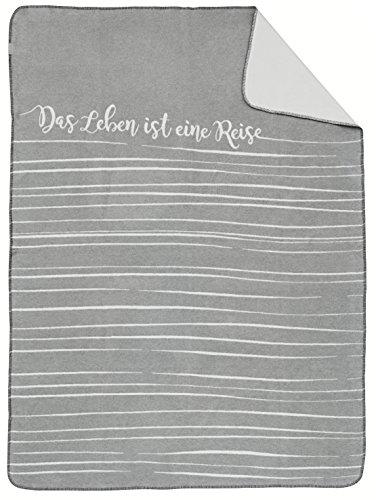 Räder 13069 - ZUHAUSE - Decke - Kuscheldecke Das Leben ist eine Reise 150 x 200 cm