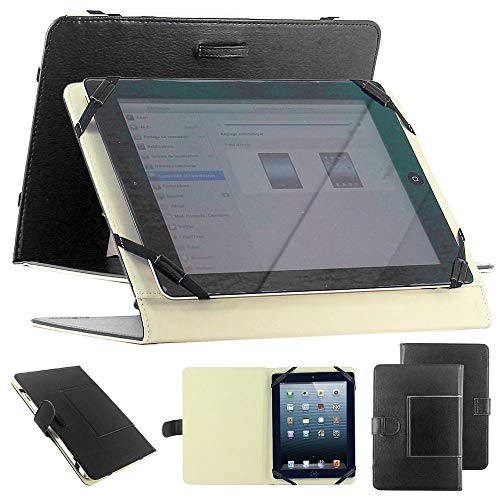 Copertura universale per tablet PC 10  10.1  10.2  simil-pellea libretto con stand integrato colore nero ex. Android Tablet PC Tab Epad Apad, MID pad, SuperPad, Samsung galaxy Tab 10.1 P7500 P7510, Tab 2 10.1  P5100 P5110, galaxy Note 10.1 N8000, 10  Blackberry player book, 10  E reader book, Acer ICONIA A500 A501, Motorola XOOM MZ601 10  Advent Vega, etc