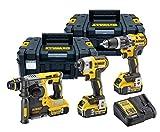 <span class='highlight'>Dewalt</span> DCK368P3T Triple Kit, 18 V, Yellow, 27 x 32 x 15