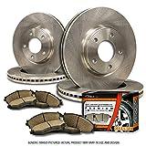 (F+R Full Kit)4 OEM Replacement Great-Life Premium Disc Brake Rotors + 8 Ceramic Pads(Works with 6lug)-Combo Brake Kit
