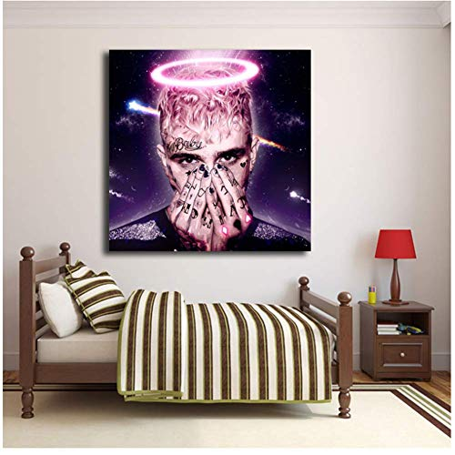 NRRTBWDHL Lil Peep Tattoo Hellboy Heulsuse Gaming Poster Comics Gemälde auf Leinwand Moderne Kunst Dekorative Wandbilder Home Decoration-50x50cm No Frame