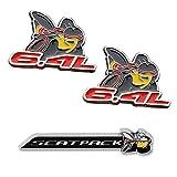 3pcs SCAT PACK 6.4L Super Bee Direct Emblem Sticker Decal For Dodge Mopar Charger & Challenger