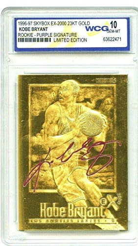 Kobe Bryant 1996-97 EX-2000 SIGNATURED WCG GEM-MT 10 23KT Gold Rookie Card! Los Angeles Lakers!