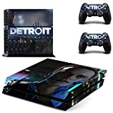 Playstation 4 Skin Set – Become Human - HD Printing Vinyl Skin Cover Protective for PS4 Console and 2 PS4 Controller by okanhyeu