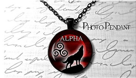 Alpha-Halskette für Teenager, Wolf-Motiv, Blut, Vollmond-Halskette, keltischer Triskele-Schmuck
