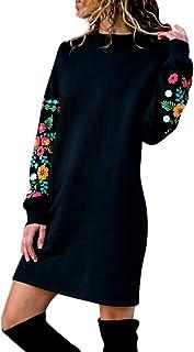 Maglione Manica Lunga Donna Semplice Maglia Vestito Ragazza Knit Pullover Magliette Tumblr Invernali Casual Mini Abito Tin...