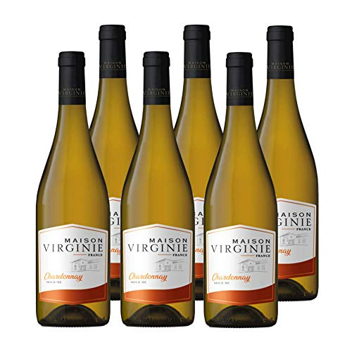 Maison Virginie - Chardonnay - IGP Pays dOc - Vin Blanc - lot de 6 bouteilles x 75cl - Millésime 2019