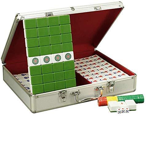 YIQIFEI Boutique Mahjong Set - Coffret Cadeau en Aluminium Exquis, Production de mélamine, Majong Set Mah Jong Mah Jongg Sets Majiang, Big/Small (Jouets de Piscine)