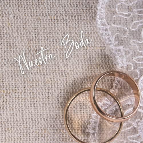 Libro de firmas y huellas para bodas: Libro de invitados personalizado para dejar recuerdos a los novios - Idea de regalo o detalle de boda original para la pareja. Español