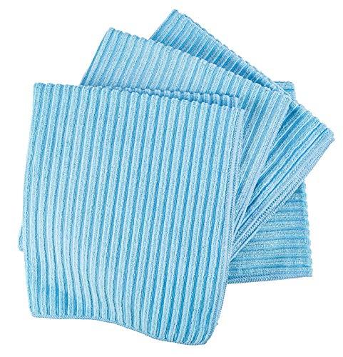 Aqua Clean Microfaser Bodentuch mit Hochtief Struktur 5er Set (blau)