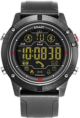 Intelligente elektronische Uhr, soziale Interaktive, leuchtende Bluetooth-Fotokalorie, gesunde Sportuhr mit Stahlband, kompatibel mit Android und iOS