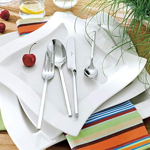 Villeroy & Boch - NewWave ménagère 24 pièces, ensemble de couverts en acier inoxydable de haute qualité pour jusqu'à 6 personnes, adapté au lave-vaisselle