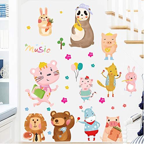 mohanshop Wandaufkleber Cartoon Tier DIY Hause Cute Bear Lion Kinderzimmer Schlafzimmer Tapete Decor Removable Home Nursery Decals 45X60 cm