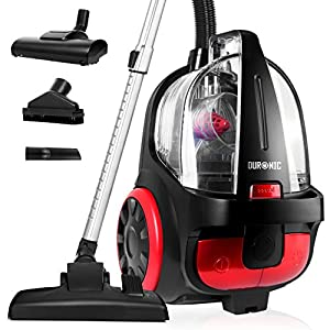 Duronic Bagless Cylinder Vacuum Cleaner | VC5010 500W | VC7020 700W | For Carpet and Hard Floor | Lightweight Designs | Features a HEPA Filter, Extendable Hose and Attachments [Energy Class A+]