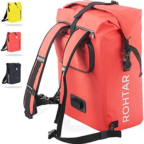 Rohtar 3in1 Fahrradtasche - wasserdicht & reflektierend - als Gepäckträgertasche,...