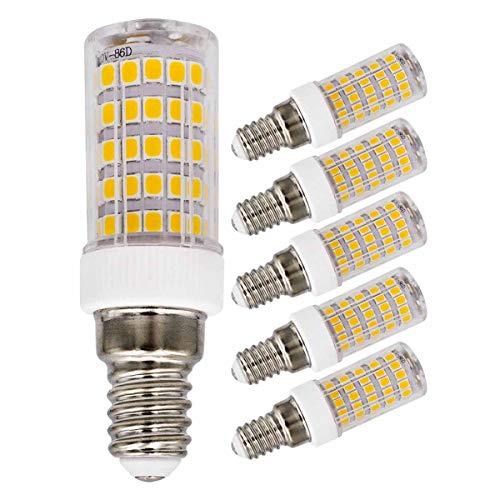 E14 LED Lampe Dimmbare 7W Ersetzt 70W 60W Warmweiß 220V 230V 3000K 680Lumen Schlafzimmer Wandleuchte Wohnzimmer Kronleuchter Klein Energie sparen Leuchtmitteln (5er Pack) [MEHRWEG]