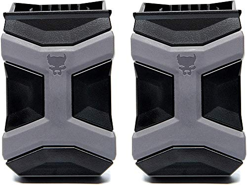 PITBULL TACTICAL Universal Mag Carrier Gen 2, Single or Double Stack Mag Pouch, Black (2-Pack)