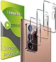 UniqueMe 3 Pack Camera Lens Protector for Samsung Galaxy Note 20 Ultra 5G /4G Tempered Glass,Case Friendly No-Bubble High Definition [Easy Installation] Clear