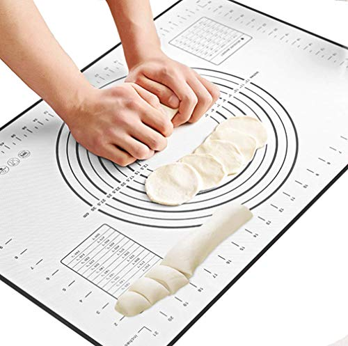 Pink 1 GCA Large baking silicone pad skid High temperature resistant,Pastry Fondant Silicone Work Rolling Baking Mat with Measurements COMIN18JU055013