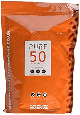 Bodybuilding Warehouse Pure Hemp Protein 50 Powder (1kg)
