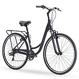 sixthreezero Body Ease Men's 7-Speed Comfort Road Bicycle, Matte Black, 26' Wheels/ 17' Frame, One...