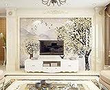 Papel Pintado 3D Árboles, Vuelo, Pájaro, Alce, Retro Fotomurale 3D Tv Telón De Fondo Pared Decorativos Murales Moderna