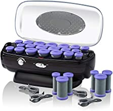 INFINITIPRO BY CONAIR Ceramic Flocked Hot Roller Set with Cord Reel and 20 Hair Rollers, 1 Count