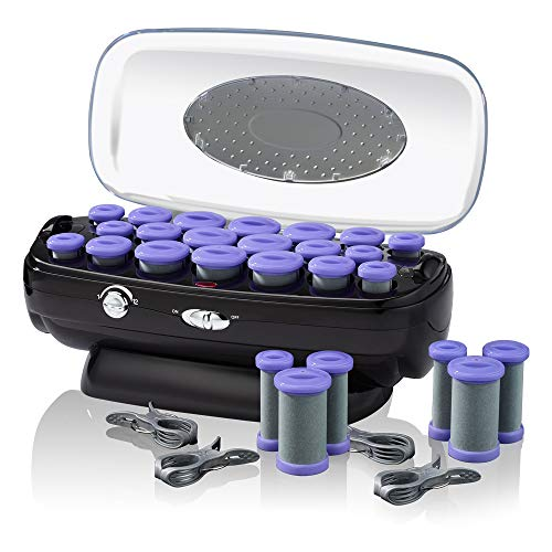 INFINITIPRO BY CONAIR Ceramic Flocked Hot Roller Set with Cord Reel and 20 Hair Rollers