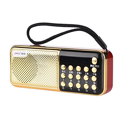 M-11 mini USB FM-radio, draagbare radio-luidspreker 87,5-108 MHz stereo FM-radio Betrouwbare PW-cut-geheugen MP3-speler radio voor ouderen