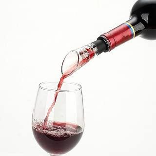 BUSOHA Wine Aerator Pourer (6 PACK)- Premium Decanter Spout Aerating Pourer for Red White Wine Whiskey Bar Tools