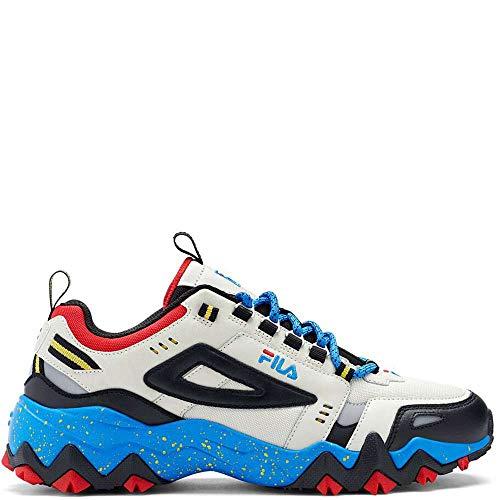 Fila Men's Oakmont TR Fashion Sneakers Silverbirch/Black/Electricbluelemonade 12