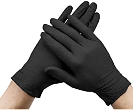 UKCOCO El examen m/édico libre del polvo del l/átex 100PCS tat/úa los guantes piercing negros tama/ño S