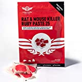 Contego Home Shield Rat & Mouse Killer Poison Pasta|Strongest Available|Maximum Strength| Use Indoors & Outdoors| Most Effective Rat Poison|Professional Choice Ruby Pasta Bait (1 x 150g Sachets)