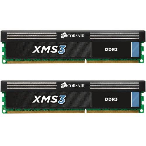 Corsair CMX8GX3M2A1600C11 XMS3 8GB (2x4GB) DDR3 1600 MHZ (PC3 12800) Desktop Memory 1.5V
