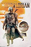Trends International Star Wars: The Mandalorian - Mando and The Child Walking Wall Poster, 22.375' x 34', Unframed Version