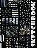 Black Paper Sketchbook: Big Sketchbook for Doodling & Drawing With Gel,, Metallic, Sharpies or Neon...